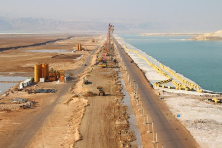 Bauer carries out dam remediation project for Arab Potash Company